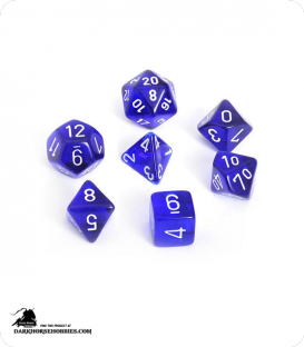 Chessex: Translucent Blue/White Polyhedral dice set
