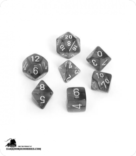 Chessex: Translucent Smoke/White Polyhedral dice set