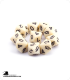 Chessex: Opaque Ivory/Black d10 dice set (10)