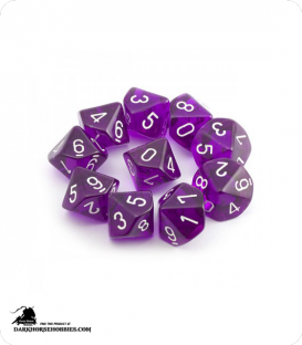 Chessex: Translucent Purple d10 dice set