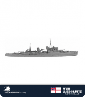 United Kingdom WWII Micronauts: HMS Manchester (CL/15) Light Cruiser