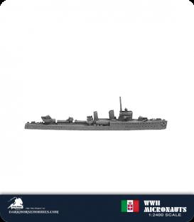 Italian WWII Micronauts: DD Turbine Class Destroyer
