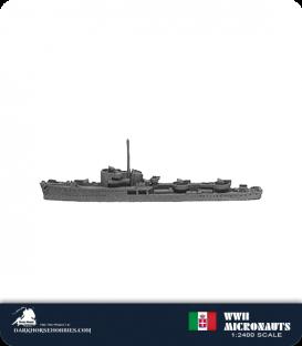 Italian WWII Micronauts: DE Ciclone Class Escort Destroyer