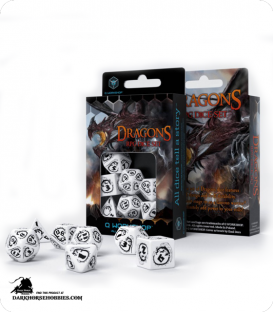 Dragons White-Black Polyhedral Dice Set