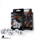 Dragons White-Black Polyhedral Dice Set (7)