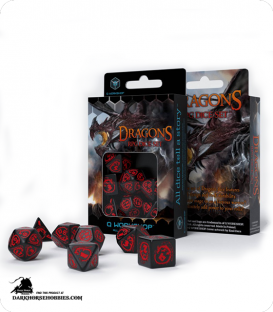 Dragons Black-Red Polyhedral Dice Set