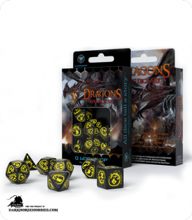 Dragons Black-Yellow Polyhedral Dice Set