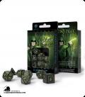 Elven Black-Glow in the Dark Polyhedral dice set (7)