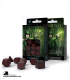 Elven Black-Red Polyhedral dice set (7)