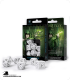 Elven White-Black Polyhedral dice set (7)