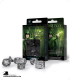 Elven Transparent-Black Polyhedral dice set (7)