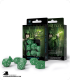 Elven Green-White Polyhedral dice set (7)