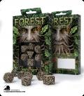 Forest Beige-Black Polyhedral dice set (7)