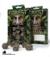 Forest Beige-Black Polyhedral dice set (7)