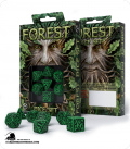 Forest Green-Black Polyhedral dice set (7)