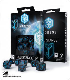 Ingress Polyhedral Dice Set: Resistance