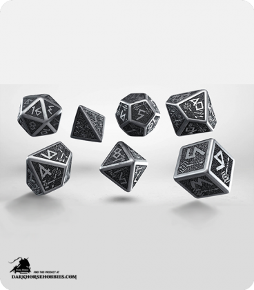 Dwarven Metal-Black Polyhedral Dice Set