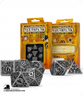 Steampunk Metal-Black Polyhedral Dice Set (7)