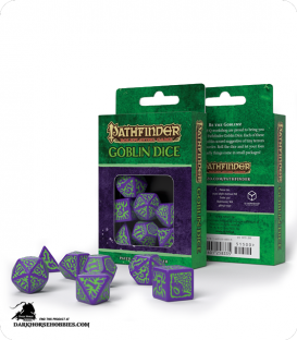 Pathfinder: Goblin Purple-Green Polyhedral Dice Set