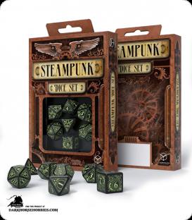 Steampunk Black-Glow in the Dark Polyhedral Dice Set