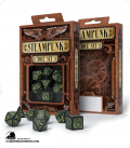 Steampunk Black-Glow in the Dark Polyhedral Dice Set (7)
