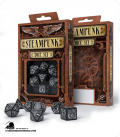 Steampunk Black-White Polyhedral Dice Set (7)