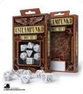 Steampunk White-Black Polyhedral Dice Set (7)