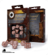 Steampunk Clockwork Caramel-White Polyhedral Dice Set (7)