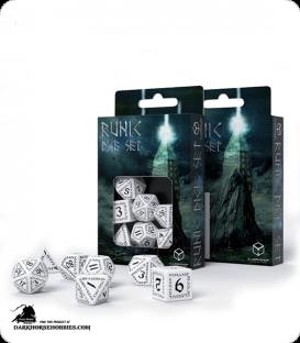 Runic White-Black Polyhedral dice set