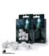 Runic White-Black Polyhedral dice set (7)