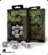 Celtic 3D Revised White-Black Polyhedral dice set (7)