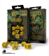 Celtic 3D Revised Yellow-Black Polyhedral dice set (7)