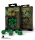 Celtic 3D Revised Green-Black Polyhedral dice set (7)