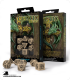 Celtic 3D Revised Beige-Black Polyhedral dice set (7)