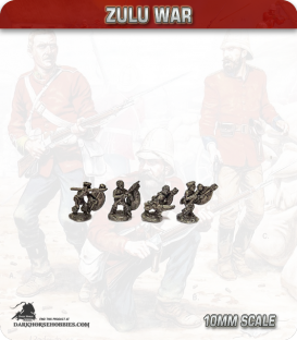 10mm Zulu War: Zulu Warriors (without head dress)