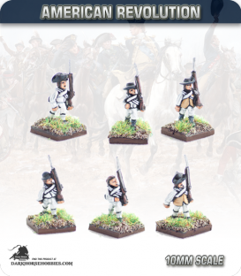 10mm American Revolution: Summer Militia / Continentals in Waistcoats (painted by Andy Mac)