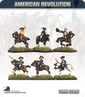 10mm American Revolution: Mounted Officers (painted by Andy Mac)