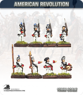10mm American Revolution: Rhode Island Regiment with Command