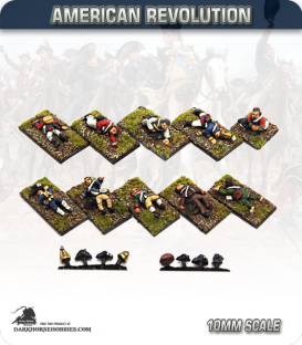 10mm American Revolution: Generic Dead and Wounded (painted by Andy Mac)