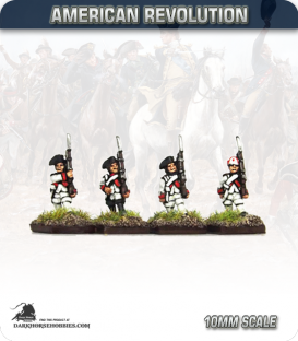 10mm American Revolution: French Fusiliers - Marching (painted by Andy Mac)