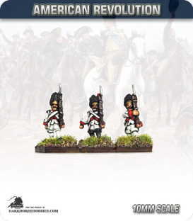 10mm American Revolution: French Grenadiers in Bearskins - Marching (painted by Andy Mac)