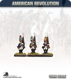 10mm American Revolution: Hessian Grenadiers - Standing (painted by Andy Mac)