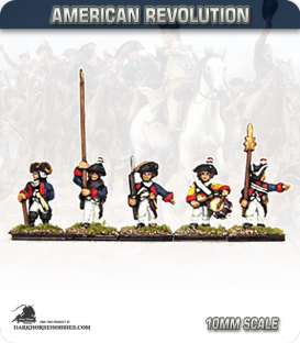 10mm American Revolution: Brunswick Musketeer Command (painted by Andy Mac)