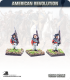10mm American Revolution: British Roundabouts in Round Hats with Blanket Roll - Marching