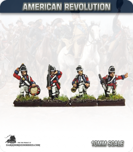 10mm American Revolution: British Light Infantry Command (figures painted by Andy Mac)