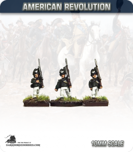 10mm American Revolution: British Queens Rangers Centre Company (figures painted by Andy Mac)