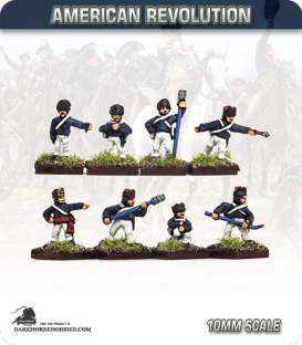 10mm American Revolution: British Artillery Crews in Cap (painted by Andy Mac)