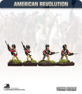 10mm American Revolution: British Guards Flank Company - Advancing (painted by Andy Mac)