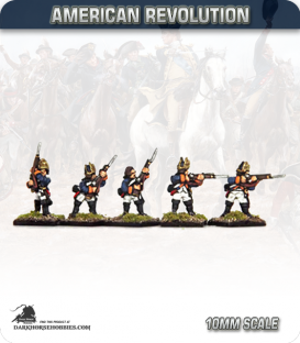 10mm American Revolution: Hessian Fusilier - Firing Line (painted by Andy Mac)