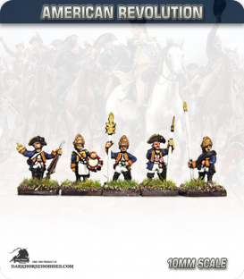 10mm American Revolution: Hessian Fusilier Command (painted by Andy Mac)
